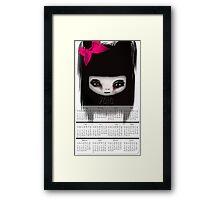 Little Scary Doll Wall Calendar Framed Print