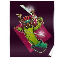Cactus Samurai Poster