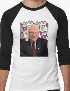 Subtle Bernie Sanders Print Men's Baseball ¾ T-Shirt