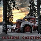 Christmas Card Skidder Sunrise by Heather  Waller-Rivet  IPA