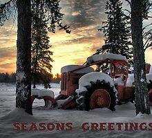 Christmas Card Skidder Sunrise by Heather  Waller-Rivet  IPA