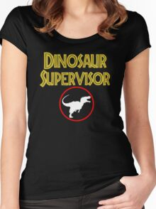 dinosaur supervisor Women's Fitted Scoop T-Shirt