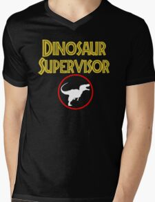dinosaur supervisor Mens V-Neck T-Shirt