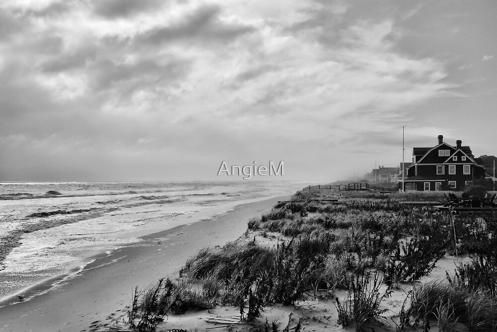 Mantoloking Beach in Black & White by AngieM
