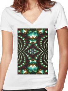 Macro Glass 2 Women's Fitted V-Neck T-Shirt