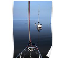 Tranquil moorings, Coll Poster