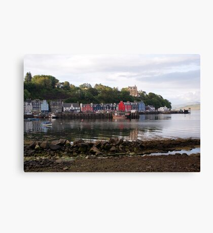 Tobermory, low tide Canvas Print