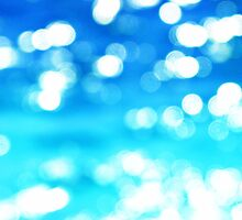 Blue Ombre Bokeh by Stephanie Stonato