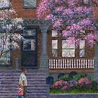 Philadelphia Street in Spring by Susan Savad