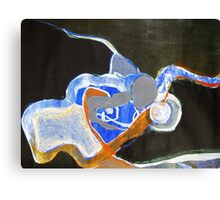 blue and orange Canvas Print