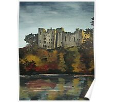 Ludlow castle in England Poster