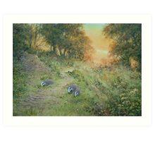 Badger Lane Art Print