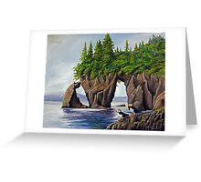 Puffin Pair - Three Hole Point Greeting Card