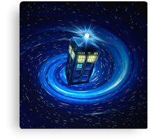 Tardis Vortex Canvas Print