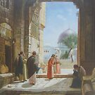 Arabia Market , hand painting, acrylics on canvas by diasha