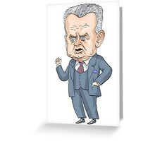 John Diefenbaker, Prime Minister of Canada 1957-1963 Greeting Card