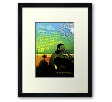 Breaking The Habit Framed Print