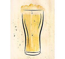 Stylized Beer Photographic Print