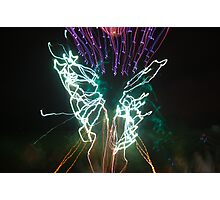 Firework Butterfly Photographic Print