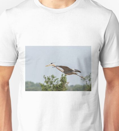 Great Blue Heron In Flight 2015-5 Unisex T-Shirt