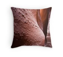 Spooky Curves and Lines, Grand Staircase Escalante, Utah Throw Pillow