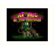 Atomic Bomberman Art Print