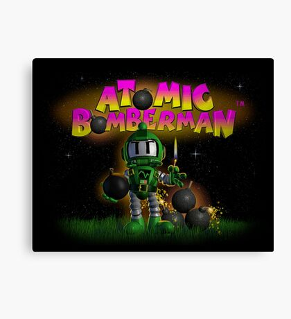 Atomic Bomberman Canvas Print