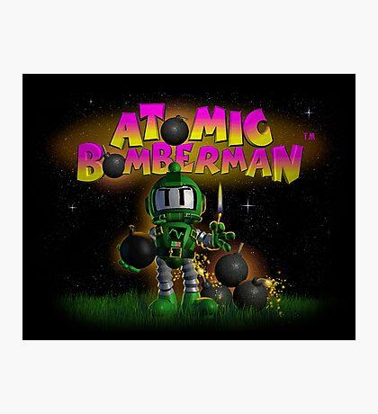 Atomic Bomberman Photographic Print
