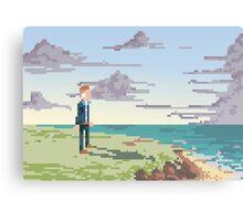 Pixel Suit Canvas Print