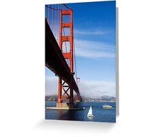 Golden Gate Bridge from below Greeting Card