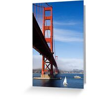 Golden Gate Bridge from below Greeting Card