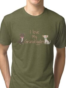 I love my grandoggies Tri-blend T-Shirt