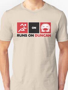 Runs On Duncan Unisex T-Shirt