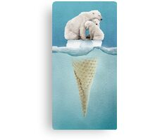polar ice cream cap 02 Canvas Print