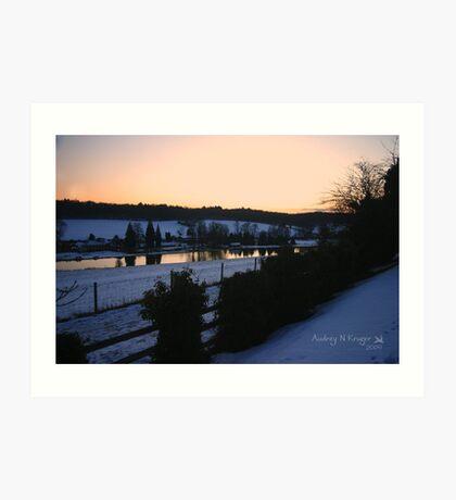 Latimer Winter Sunset Art Print