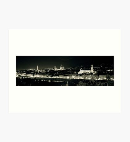 Florence in the dark! Art Print