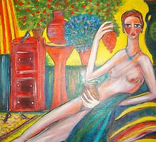 Lady in the Sunroom. by catherine walker