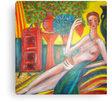 Lady in the Sunroom. Canvas Print