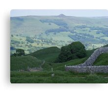looking over to win hill Canvas Print