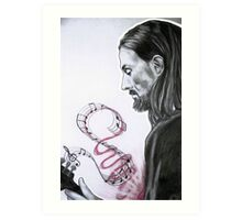 Mandolin Heart Art Print