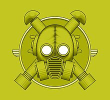 Art Deco Gasmask Combat Green by Rustyoldtown