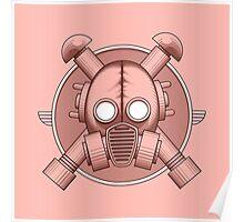Art Deco Gasmask Pink Poster