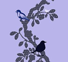 Bird Tree Wallpaper by Charlotte Harold