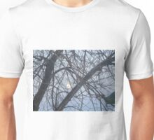 Moon and trees Unisex T-Shirt