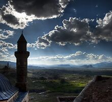 Minaret and palace by Erdj