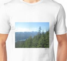 Overlooking the mountains Unisex T-Shirt