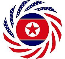 North Korean American Multinational Patriot Flag Series Photographic Print