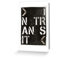 moving art project: IN TRANSIT Greeting Card