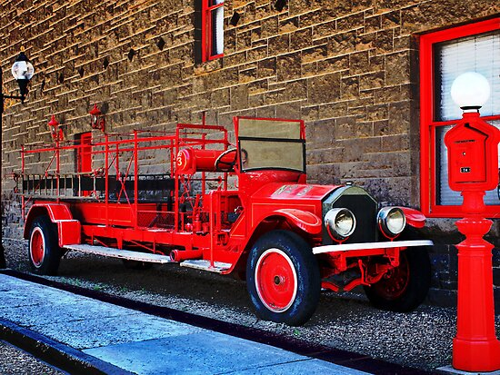 Antique Fire Truck Engine #3 by TWindDancer
