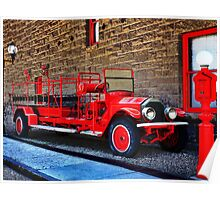 Antique Fire Truck Engine #3 Poster